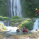 Jump into waterfall pools on canyoning trips