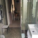 Il bagno con terrazzino x prendere il sole
