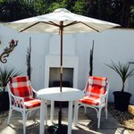 Outside seating, real sun trap !