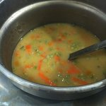 Scotch broth with added frozen veg