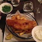 Fish & Chips at hotel's restaurant