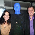 The Man, Blue Man with Rosario Cassata and Carolyn.