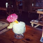 very weak and too sweet pina colada at Tiki Lounge
