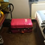 Comfortably fitted my 29 inch luggage lying down! And there was still space for movement!  Not a