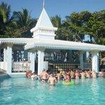 Swim up bar at the Bachata
