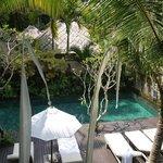 la piscine vue du restaurant