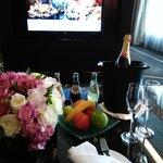 champagne for wedding anniversary celebration