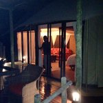 Vue de la tente de la terrasse
