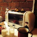 Toast at the table - what a fab idea!