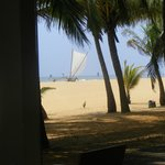 A view of the beach..............