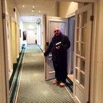 Corridor with our room door