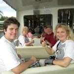 Coming back from the Magic Kingdom stress free on the boat back to resort