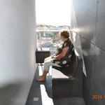 Balkongen i vårt rum!