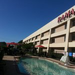 Enjoy outdoor pool at Ramada Plano