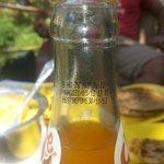 Served bottle of slice