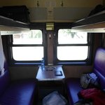 Inside a four compartment sleeper