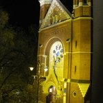 View from our room - Jesuit church at night