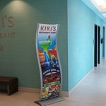 Kikis restaurant on floor 5. Right outside the pool area.