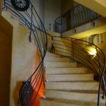 escalier d'accés aux chambres