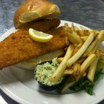 This fish sandwich was so huge and fish was perfectly cooked..crisp and fresh. Bigger than it lo