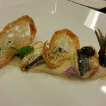 Sgombro ...melanzane viola e pane croccante