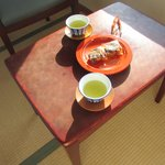 Japanese tea at the terrace