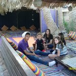My son and other guests in the Bedouin area