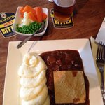 Steak and Ale with veg and mash. Very yummy