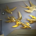 The Six Golden Martlets (wall on stairs to loos)