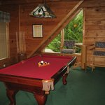 Upstairs pool table
