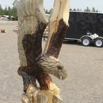 Swooping Eagle chainsaw carving