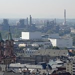 Ostrava church  and factories