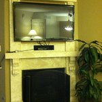 TV above fireplace