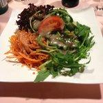 Gemischter Salat (leider Fertigsalatsauce)