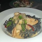 "Linguini Nero Frutti di Mare ""Livornese""  and Chicken Breast"