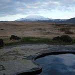 A view on the viking pool and the volcano