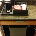Coffee machine & fridge