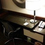 Spacious desk in king room