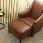 Lounge chair in king room