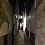 The Calle de Quijada at night