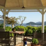 view from the beach bar of the D Resort Grand Azur, Marmaris