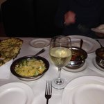 Great garlic naan bread and pilau rice
