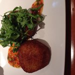 Lovely starter, fish cakes with sweet chilli sauce