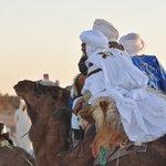 camel trek in desert chgaga