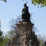 Statue of Dutch Poet Joost van den Vondel