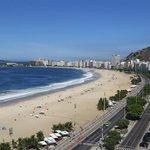 view down Copacabana beach