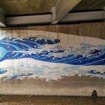 Art under the bridge.