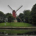 Molens op de stadswal van Brugge