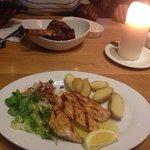 Lemon chicken and lamb shank