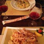 Ravioli Valtellina et Fritures de la mer